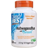Doctor's Best Best Ashwagandha Featuring Sensoril 125mg, Veggie Capsules