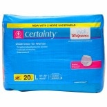 Walgreens Certainty Women's Underwear, Maximum Absorbency Large