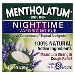 Mentholatum Nighttime Vaporizing Rub Maximum Strength Cough Relief