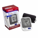 Omron 7 Series Upper Arm Blood Pressure Monitor plus Bluetooth Smart, Model BP761 Cuff that fits Standard and Large Arms