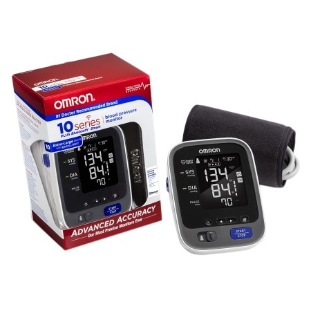 The Omron 10 Series plus wireless Bluetooth Smart connected home blood pressure monitor has all the features of our 10 Series monitor and more. Now you can access your readings anywhere, anytime with our new Omron Wellness mobile and Website apps (learn more at selectcarapp.ml).