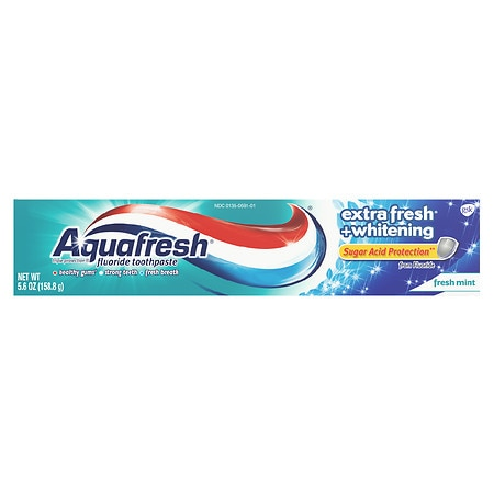Aquafresh Extra Fresh + Whitening Fluoride Toothpaste ...