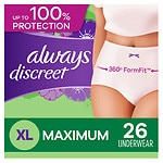 Online Coupon: Click & save $2 on one Always DISCREET underwear