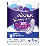 Always Discreet Incontinence Pads, Maximum Absorbency Long