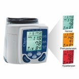 Ozeri BP2M Wrist Blood Pressure Monitor with Hypertension Color Alert Technology White