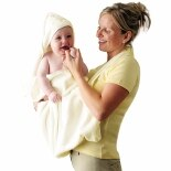 Clevamama Hooded Apron Bath Towel Cream
