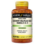 Mason Natural Coconut Oil / Flax Seed Omega 3-6-9, Softgels