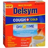 Delsym Hot Drink Cough + Cold Sachets, Night Time Honey Lemon