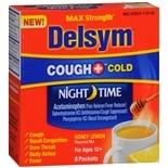Delsym Hot Drink Cough + Cold Sachets Honey Lemon