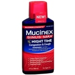 Mucinex Sinus-Max Adult Maximum Strength Nighttime Congestion & Cough Liquid