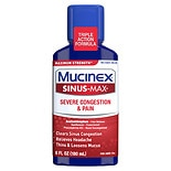 Mucinex Sinus-Max Adult Maximum Strength Severe Congestion Relief Liquid