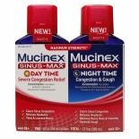 Mucinex Sinus-Max Adult Maximum Strength Severe Congestion Relief and Nighttime Liquid
