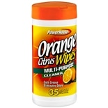 Power House Household Cleaning Wipes Orange Citrus