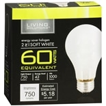 Living Solutions Halogen Bulb, 60 Watts Soft White