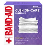 Band-Aid First Aid Gauze Pads Large (4 Inch x 4 Inch)