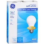 GE Soft White Halogen 43 Watt