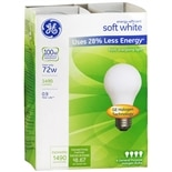 GE Soft White halogen 72 Watt