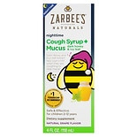 ZarBee's Naturals Children's Cough Syrup + Mucus Reducer, Nighttime Grape