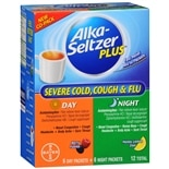 Alka-Seltzer Plus Severe Cold and Flu Day and Night Powder Berry and Honey Lemon Zest