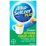 Alka-Seltzer Plus Nighttime Severe Cold and Flu Powder Honey Lemon