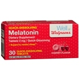 Walgreens Melatonin, Quick Dissolve Tablets Cherry