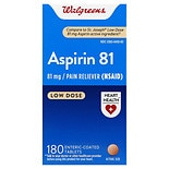 Walgreens Low Dose 81mg Aspirin Safety Coated Tablets