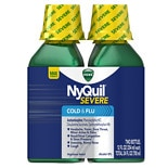 Vicks Nyquil Severe Cold & Flu Relief Liquid Original,2-12oz Bottles