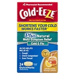Cold-Eeze Cold Remedy Plus Natural Multi Symptom Relief QuickMelts Natural Honey Lemon Flavor