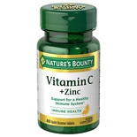 Nature's Bounty Quick Dissolve Vitamin C plus Zinc, Tablets