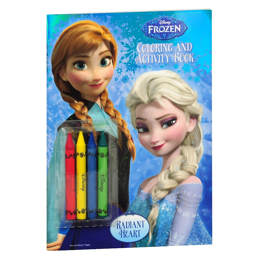 Frozen Color Book With Crayons