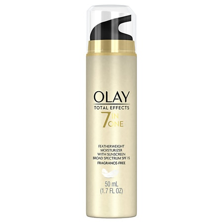 Featherweight Moisturizer with Sunscreen Broad Spectrum SPF 15 Fragrance Free by Olay Total Effects