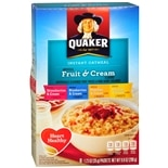 Quaker Instant Oatmeal Strawberries & Cream