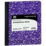 Wexford Composition Book Purple/White