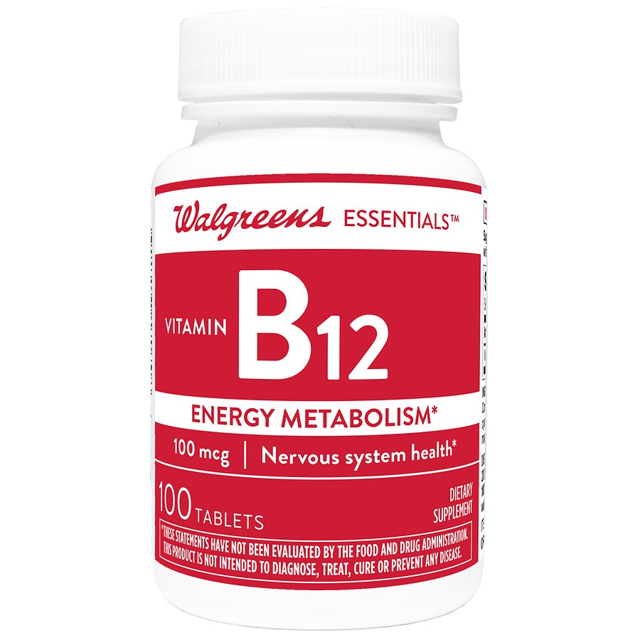 Walgreens Vitamin B12 Energy Metabolism 100mcg, Tablets ...