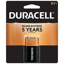 Duracell Coppertop Alkaline Battery 9V