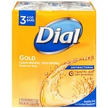 Dial Antibacterial Deodorant Soap, 4oz Bars Gold