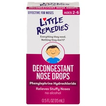 Little Noses Decongestant Nose Drops, Gentle 1/8% Formula