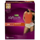 wag-Silhouette Active Fit for Women Briefs, Moderate Absorbency L/XLBeige