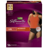 wag-Silhouette Active Fit for Women Briefs, Moderate Absorbency L/XLBlack