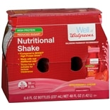 wag-Nutritional Shakes Reduced Sugar High Protein Strawberry Cream, 8 oz Bottles, 6 pk