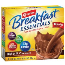 Carnation Breakfast Essentials Instant Breakfast Essentials Complete Nutritional Drink Rich Milk Chocolate