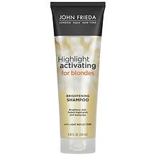 John Frieda Sheer Blonde Highlight Activating Enhancing Shampoo, For Lighter Shades For Platinum to Champagne Blondes