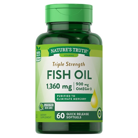 Nature's Truth Triple Strength Fish Oil 1360mg - 60 ea