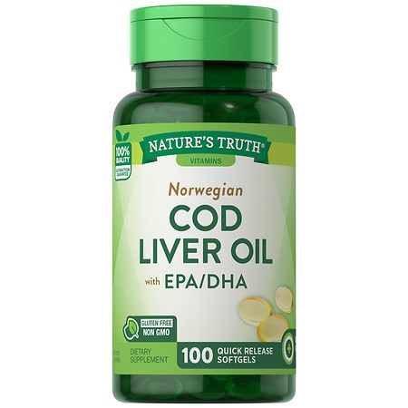 Nature 39 s truth norwegian cod liver oil with epa dha for Is cod liver oil the same as fish oil