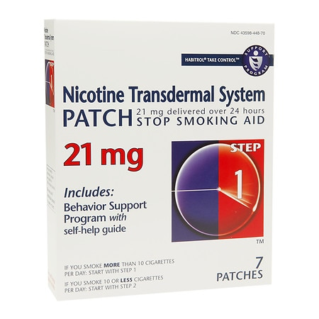 Habitrol Nicotine Transdermal System Stop Smoking Aid Patch, 21 mg Step 1 Health Fitness Skin Care Beauty Supply Deals