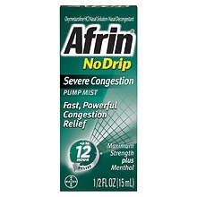 Afrin No Drip 12 Hour Pump Mist, Severe Congestion