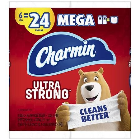 Charmin ultra strong toilet paper mega rolls walgreens