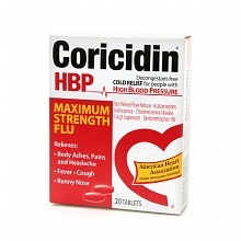 Coricidin HBP Maximum Strength Flu Tablets Maximum Strength