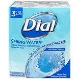 Dial Antibacterial Deodorant Soap Bars 3 Pack Spring Water