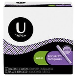 Kotex Natural Balance Natural Balance Security Tampons with Plastic Applicators Unscented